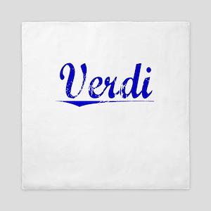 Verdi, Blue, Aged Queen Duvet