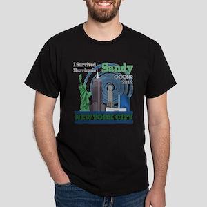 Hurricane Sandy New York City Dark T-Shirt