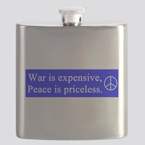 war_is_expensive_white_on_blue Flask