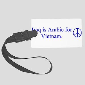 iraq_is_arabic_blue Large Luggage Tag