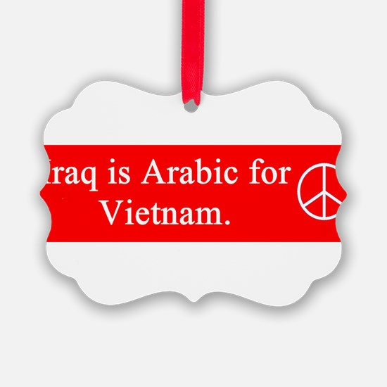 iraq_is_arabic_red_on_white.png Ornament