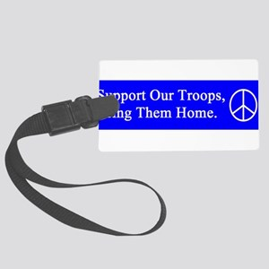 support_our_troops_blue_on_white Large Luggage
