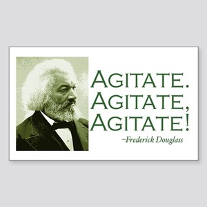 "F. Douglass ""Agitate!"" Rectangle Sticker"