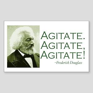 "F. Douglass ""Agitate!"" Rectangle Sticker"
