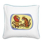 Chess Kids Square Canvas Pillow