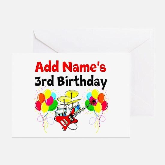HAPPY 3RD BIRTHDAY Greeting Card