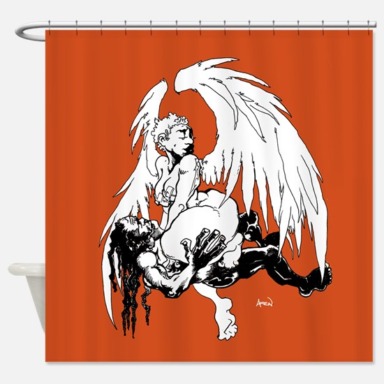 Orange Crush Shower Curtain