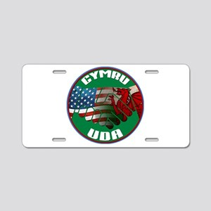 Wales USA Friendship (in Welsh) Aluminum License P