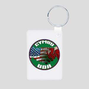 Wales USA Friendship (in Welsh) Aluminum Photo Key