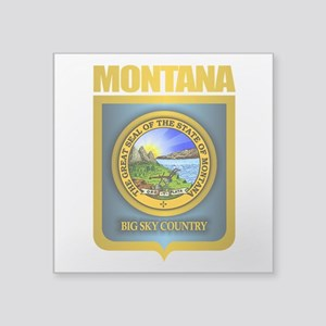 "Montana Seal (back) Square Sticker 3"" x 3"""