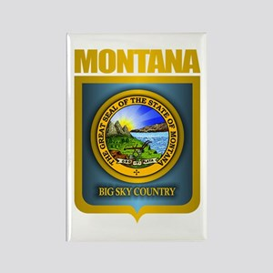 Montana Seal (back) Rectangle Magnet
