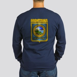 Montana Seal (back) Long Sleeve Dark T-Shirt