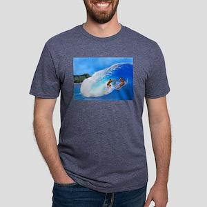 SURFING OAHU Mens Tri-blend T-Shirt
