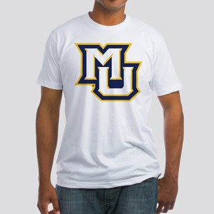 Marquette MU Letters White Navy Gol Fitted T-Shirt