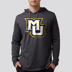Marquette MU Letters White Navy Mens Hooded Shirt