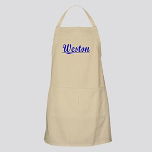 Weston, Blue, Aged Apron