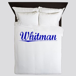 Whitman, Blue, Aged Queen Duvet