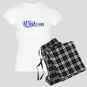 Whitson, Blue, Aged Women's Light Pajamas