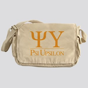 Psi Upsilon Fraternity Letters in Go Messenger Bag