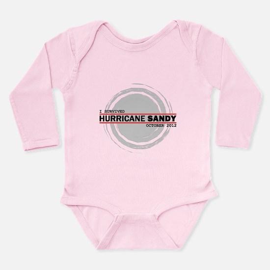 I Survived Hurricane Sandy Long Sleeve Infant Body