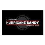 I Survived Hurricane Sandy Sticker (Rectangle 50 p