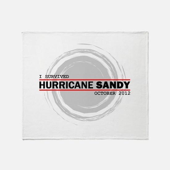 I Survived Hurricane Sandy Throw Blanket
