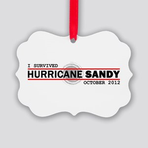 I Survived Hurricane Sandy Picture Ornament