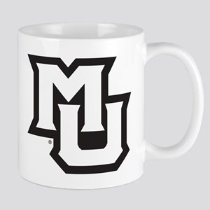 MU Letters Navy Blue 11 oz Ceramic Mug