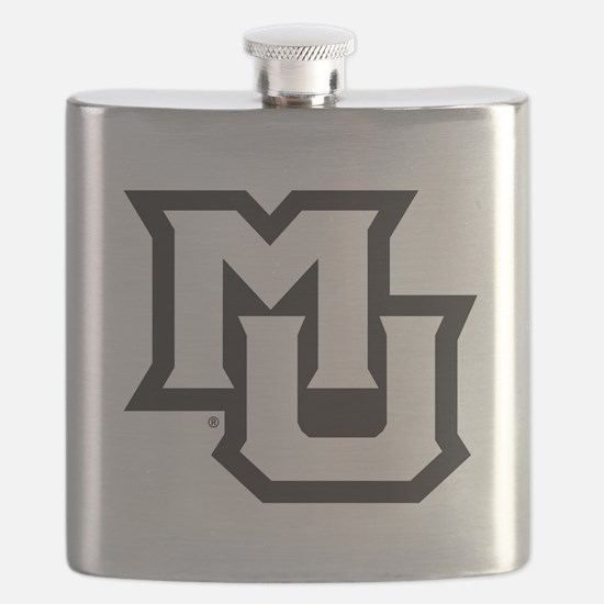 MU Letters Navy Blue Flask