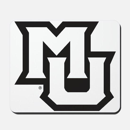 MU Letters Navy Blue Mousepad