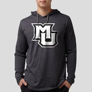 MU Letters Navy Blue Mens Hooded Shirt