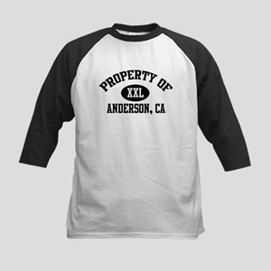 Property of ANDERSON Kids Baseball Jersey