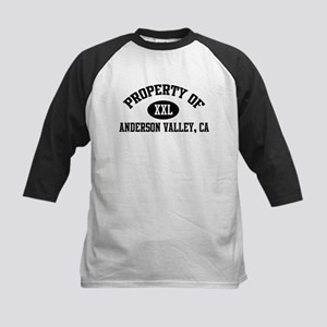 Property of ANDERSON VALLEY Kids Baseball Jersey