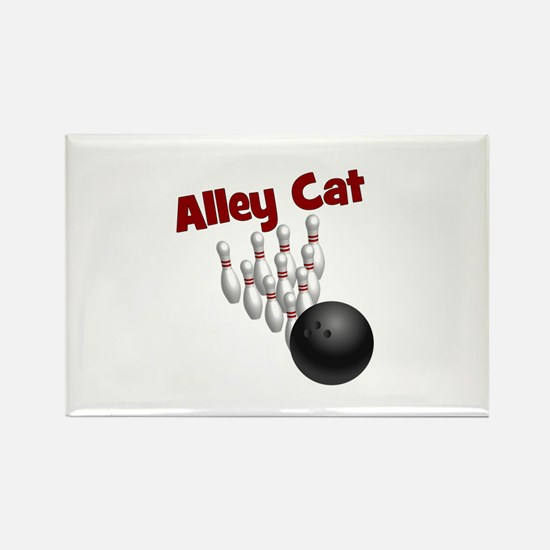 Alley Cat Rectangle Magnet