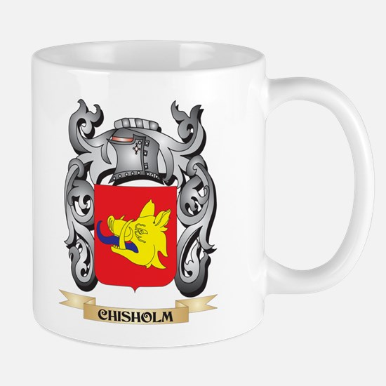 Chisholm Family Crest - Chisholm Coat of Arms Mugs