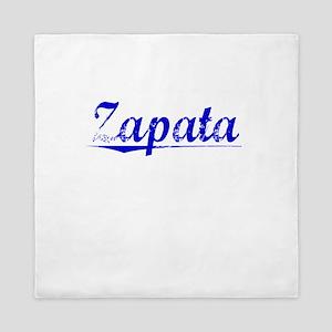 Zapata, Blue, Aged Queen Duvet