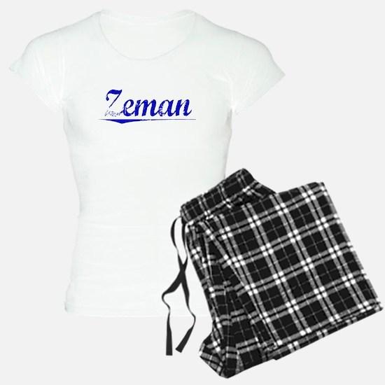 Zeman, Blue, Aged Pajamas