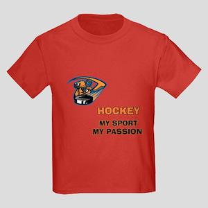 Hockey My Passion Kids Dark T-Shirt