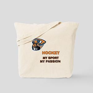 Hockey My Passion Tote Bag