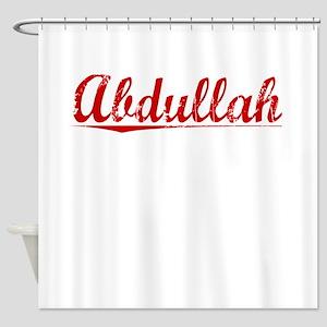 Abdullah, Vintage Red Shower Curtain
