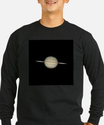 Saturn 4 Moons in Transit Long Sleeve T-Shirt