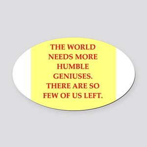 GENIUS Oval Car Magnet