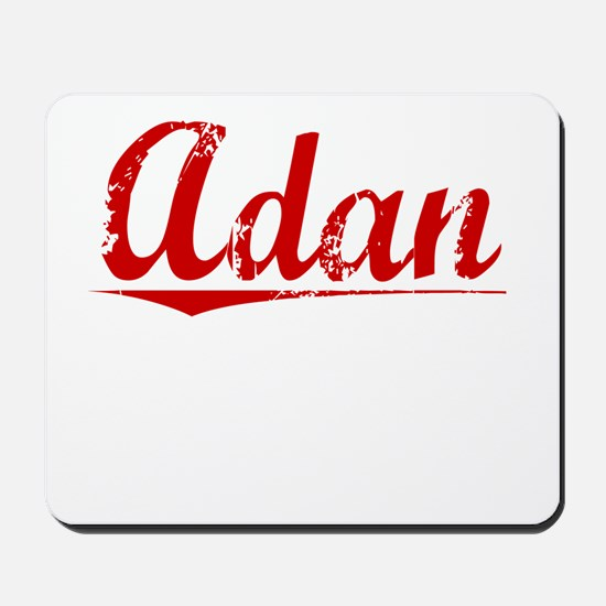 Adan, Vintage Red Mousepad