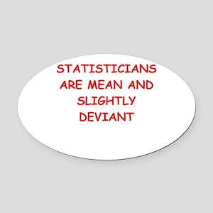 statistics Oval Car Magnet