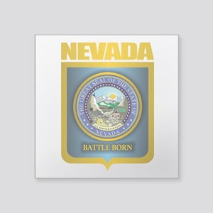"Nevada Seal (back) Square Sticker 3"" x 3"""