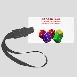 STATISTICS Large Luggage Tag