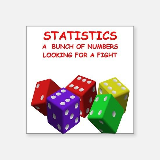 "STATISTICS Square Sticker 3"" x 3"""