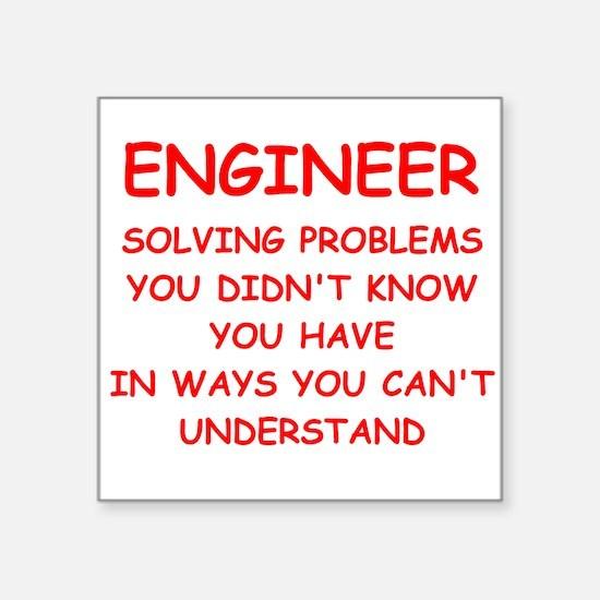 "ENGINEER Square Sticker 3"" x 3"""