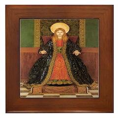 The Child Enthroned Framed Tile