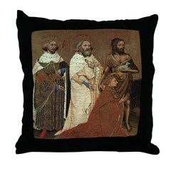 Richard II with his Patron Saints Throw Pillow